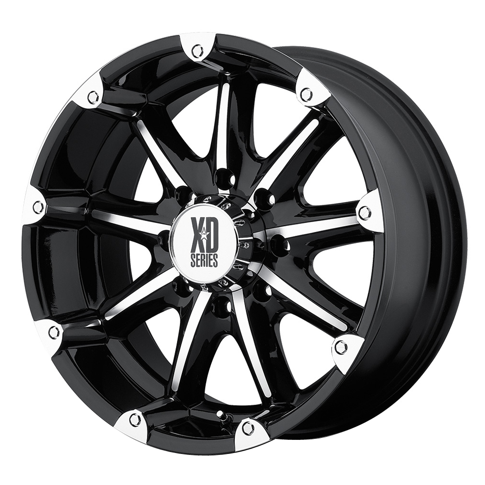 XD Series Wheels XD779 Badlands - Gloss Black Machined Rim
