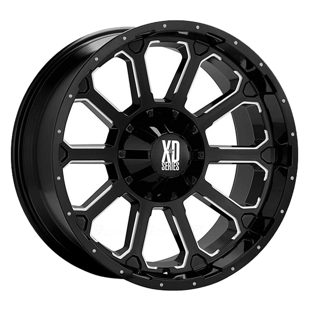 XD Series Wheels XD806 Bomb - Gloss Black With Milled Accents Rim