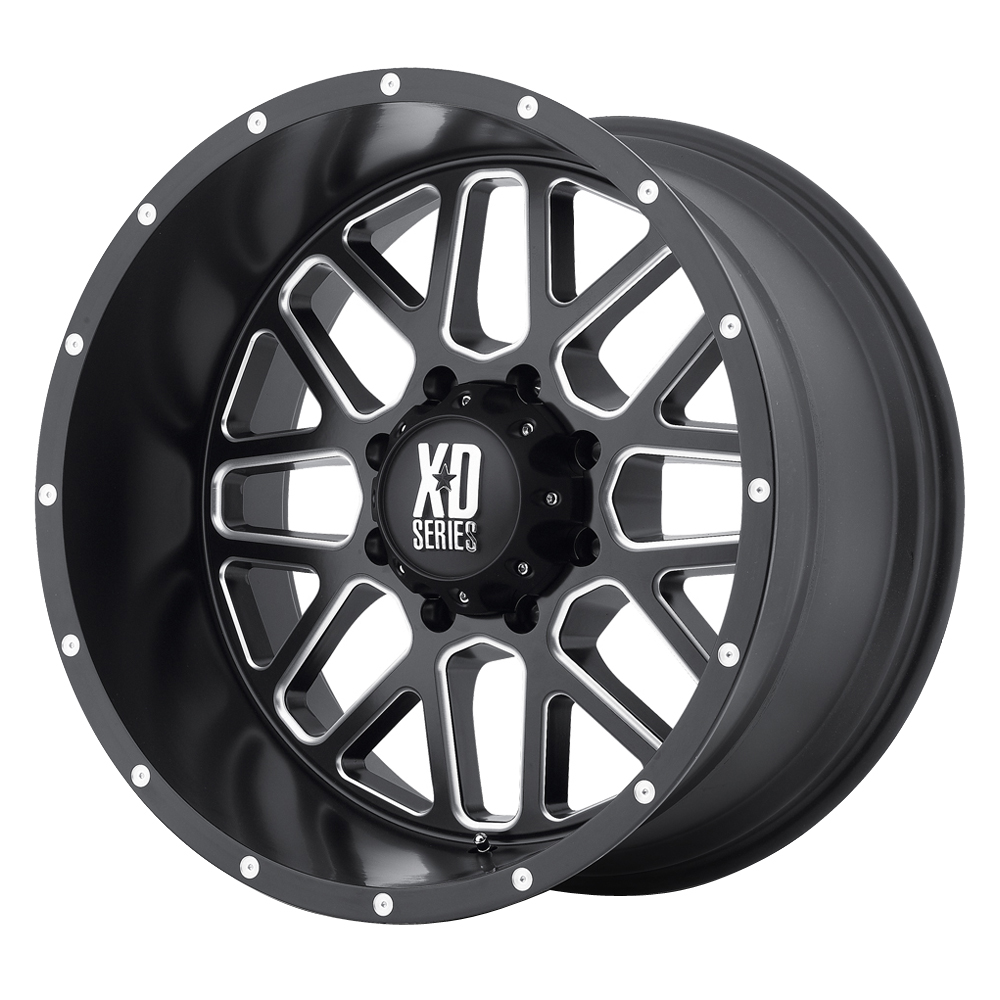 XD Series Wheels XD820 Grenade - Satin Black Milled Rim
