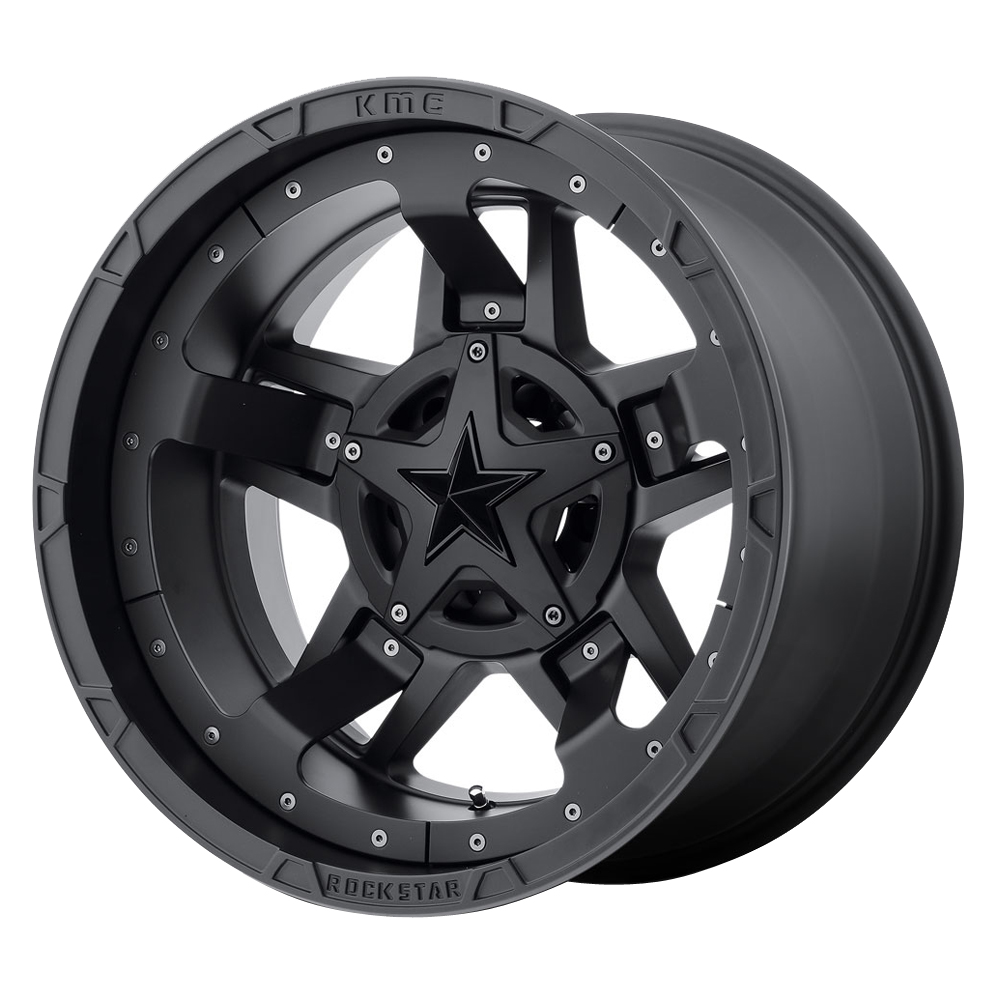 XD Series Wheels XD827 Rockstar III - Matte Black Rim