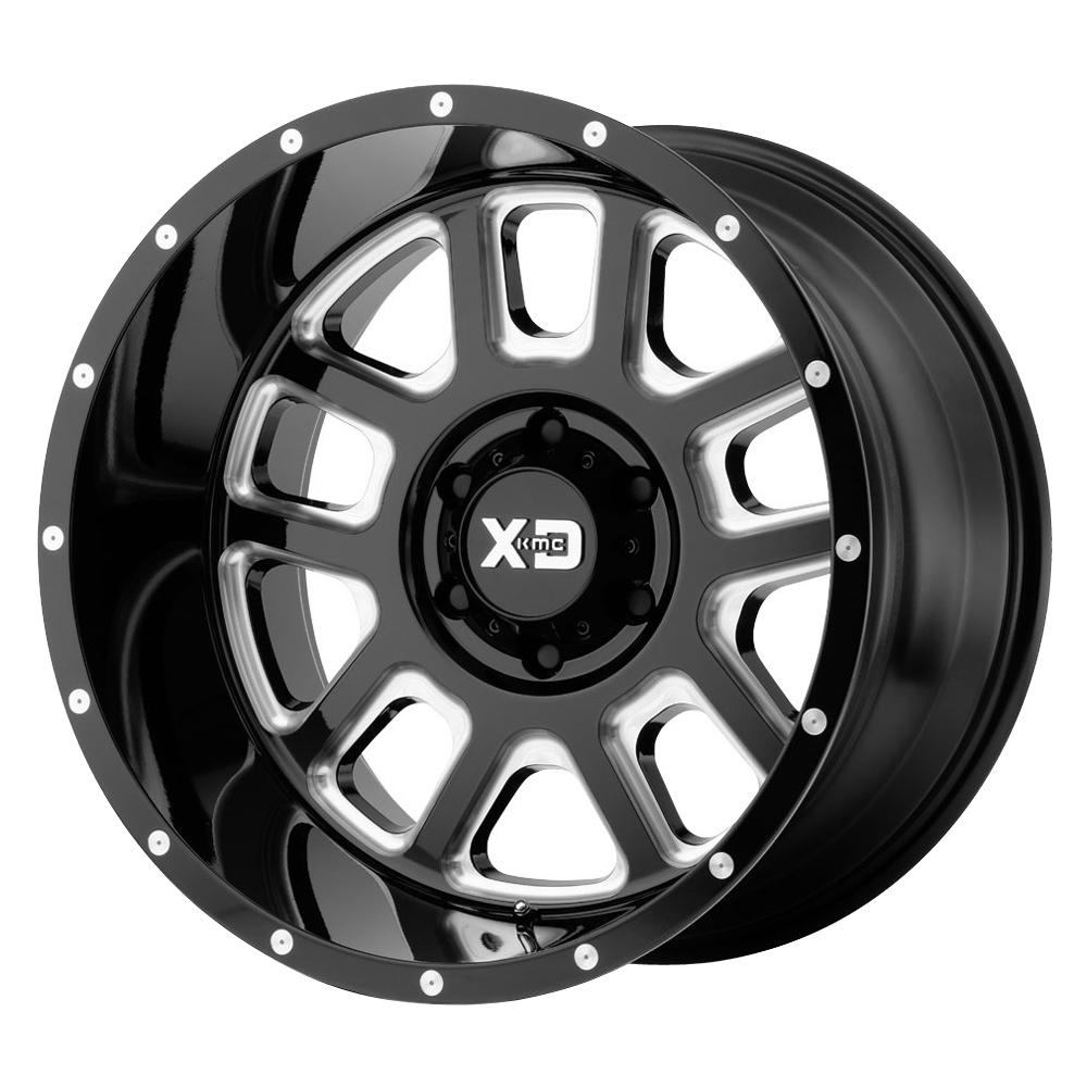 XD Series Wheels XD828 Delta - Gloss Black Milled Rim