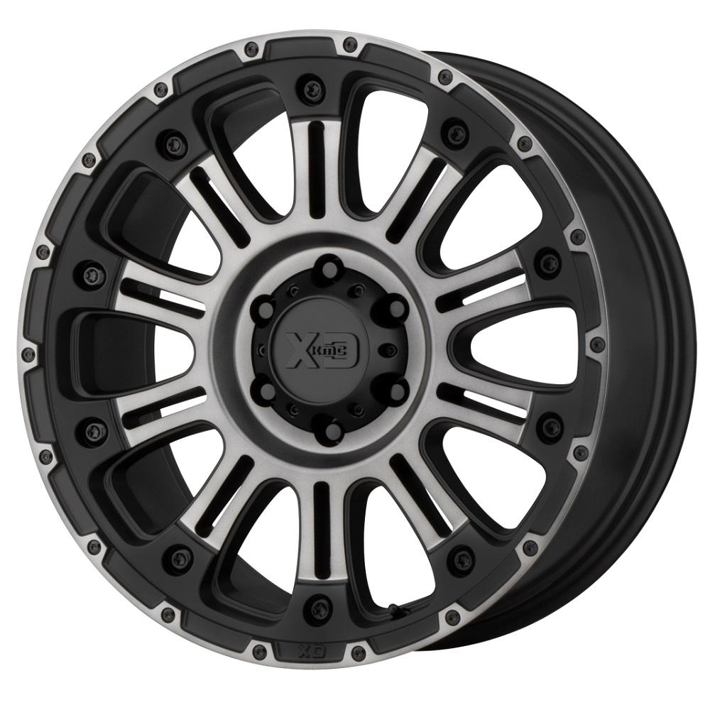 XD Series Wheels XD829 Hoss II - Satin Black Machined Gray Tint Rim