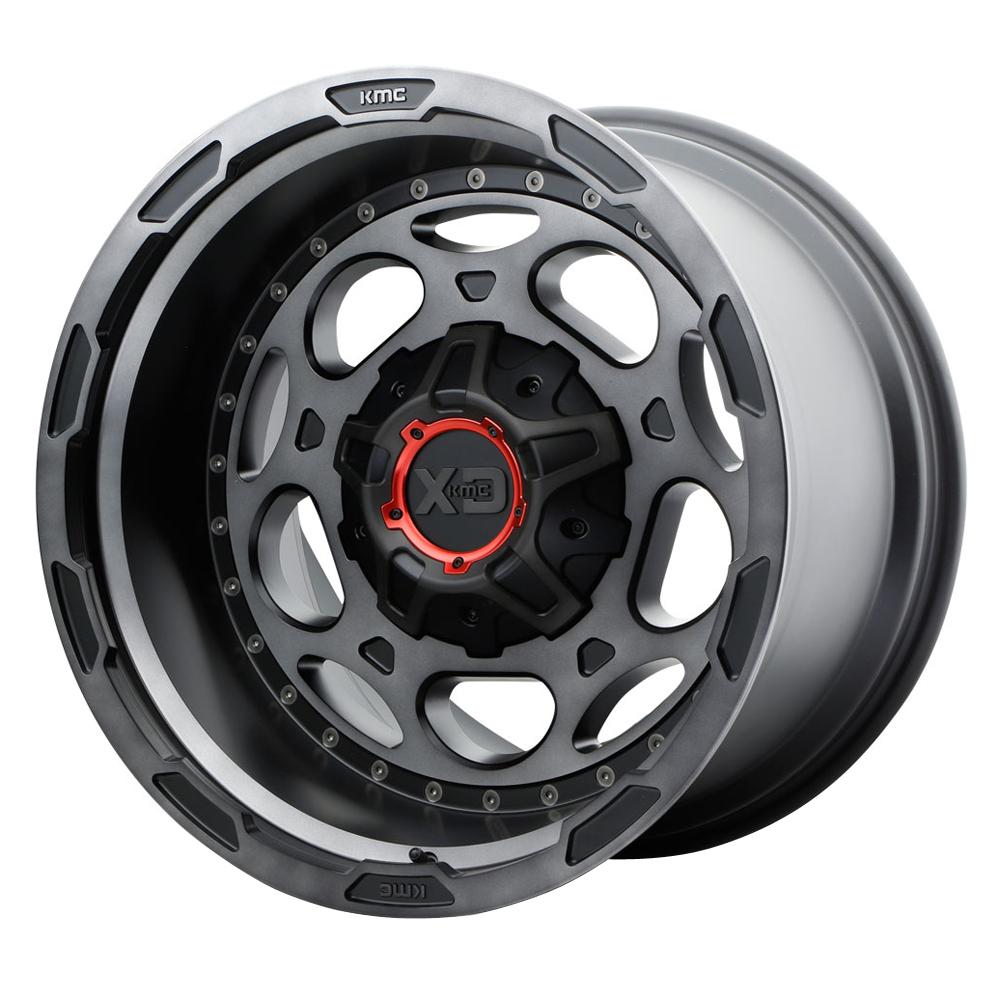 XD Series Wheels XD837 Demodog - Satin Black / Gray Clear Coat Rim