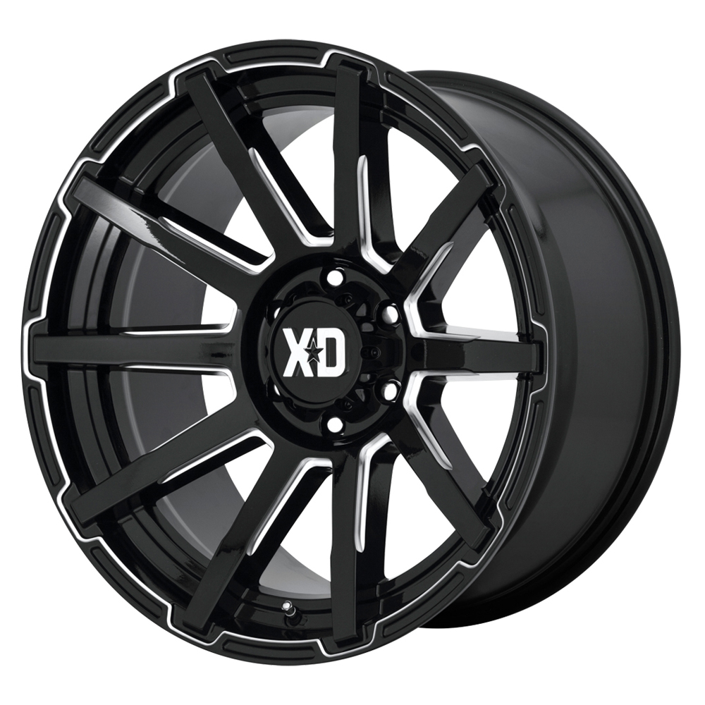 XD Series Wheels XD847 Outbreak - Gloss Black Milled Rim