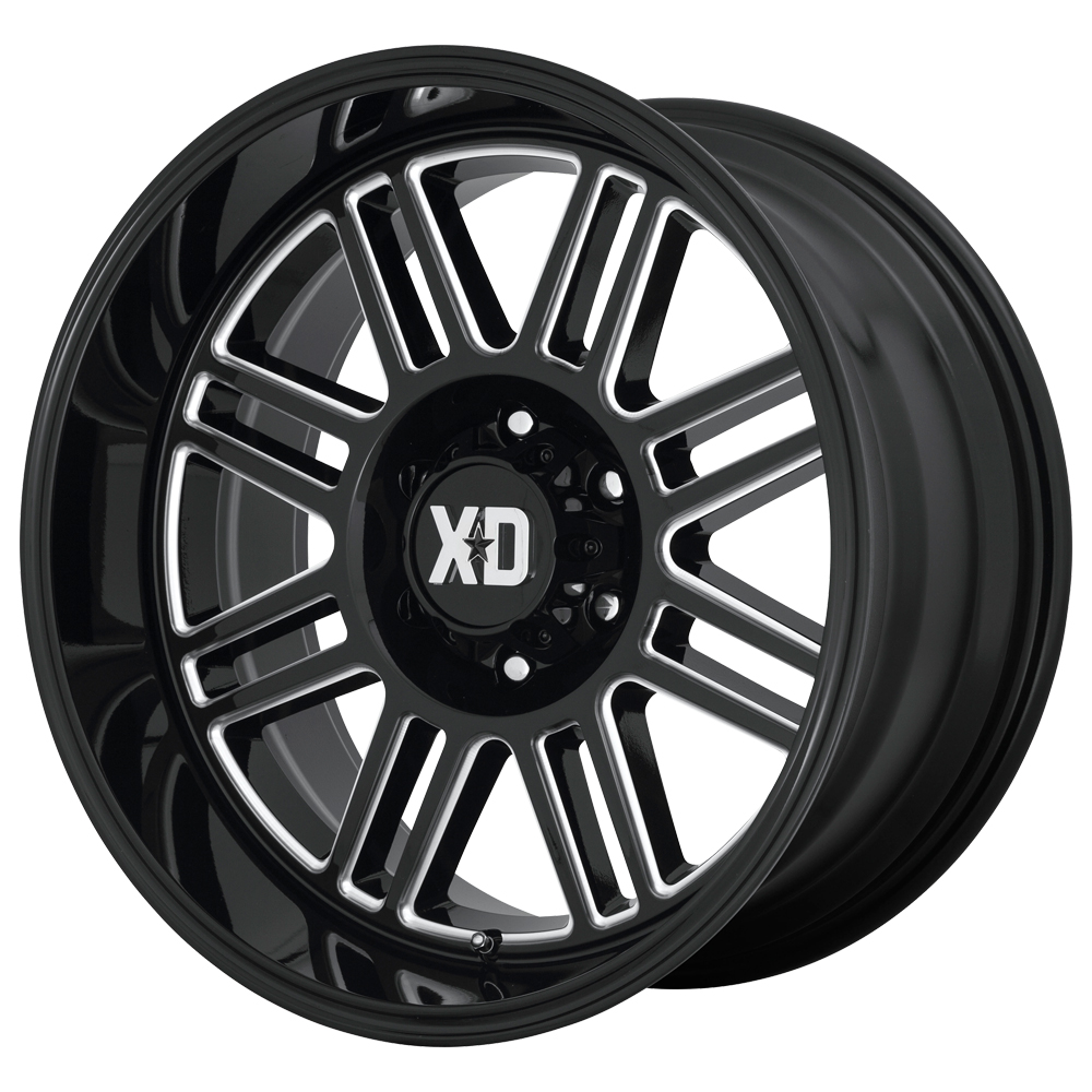 XD Series Wheels XD850 Cage - Gloss Black Milled Rim