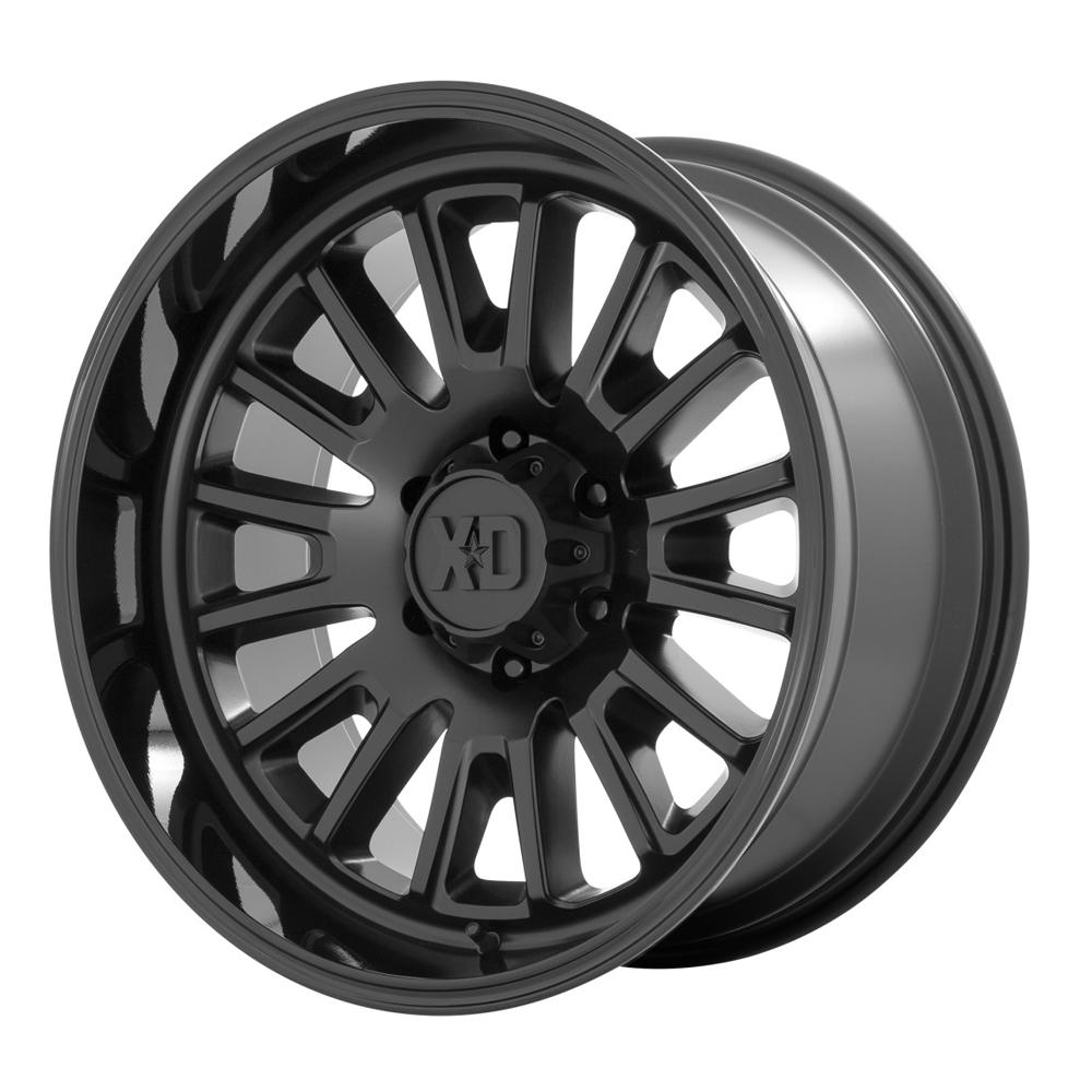 XD Series Wheels XD864 Rover - Satin Black with Gloss Black Lip Rim