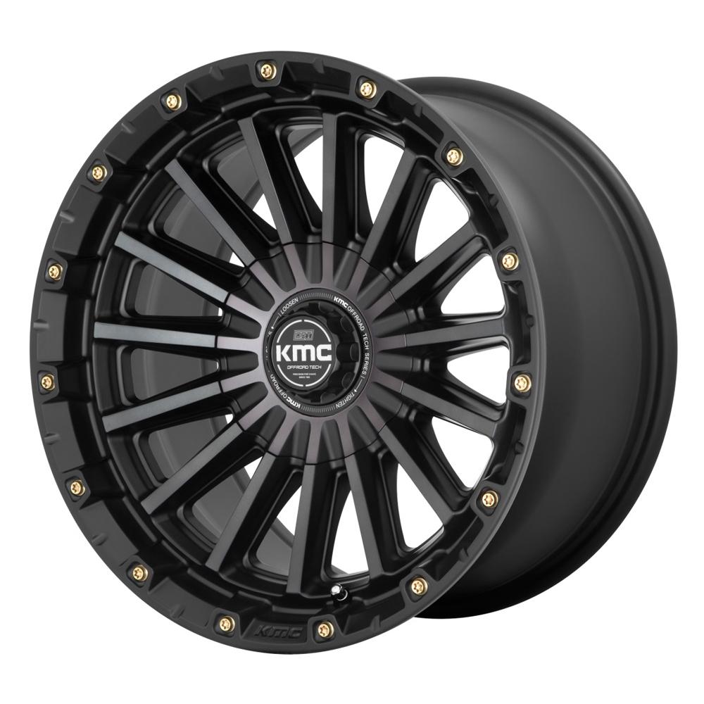 XD Series Wheels KM102 Signal - Satin Black with Gray Tint Rim