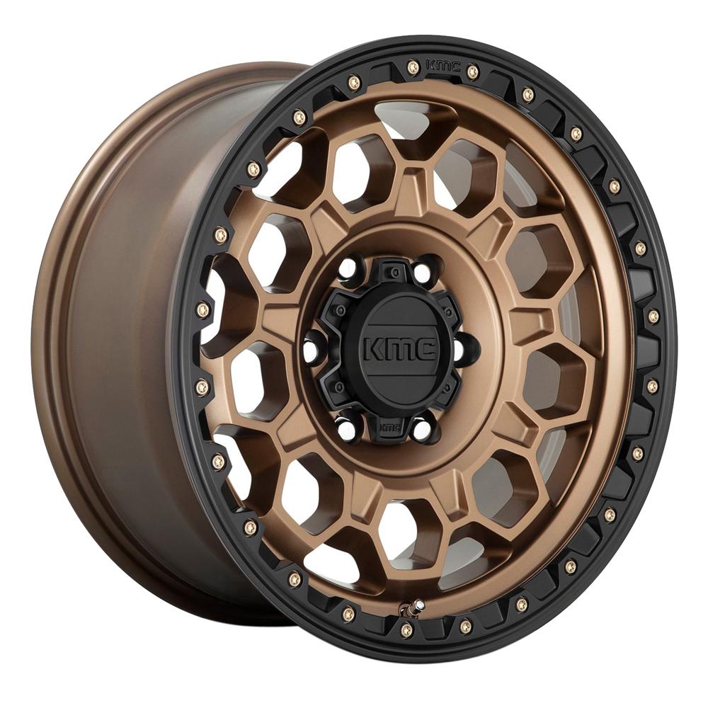 XD Series Wheels KM545 Trek - Matte Bronze Black Lip Rim