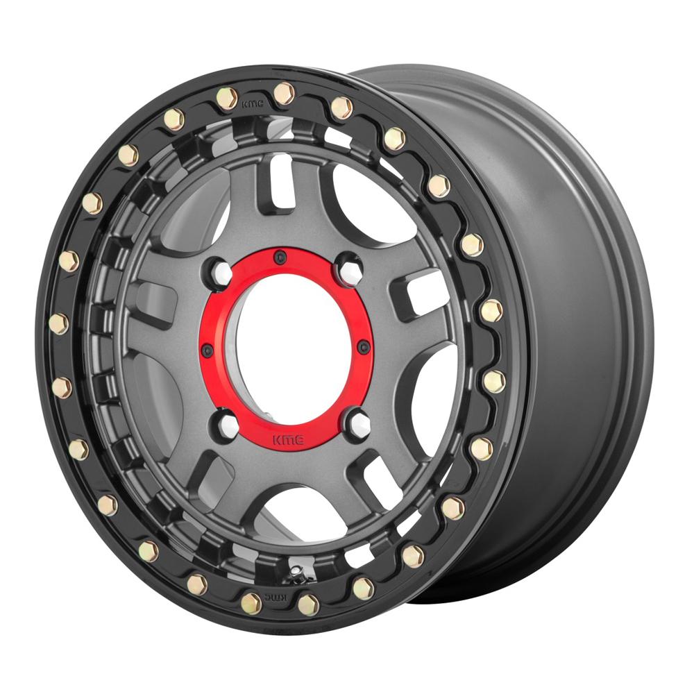 XD ATV Wheels KS240 Recon UTV - Gunmetal With Gloss Black Ring Rim