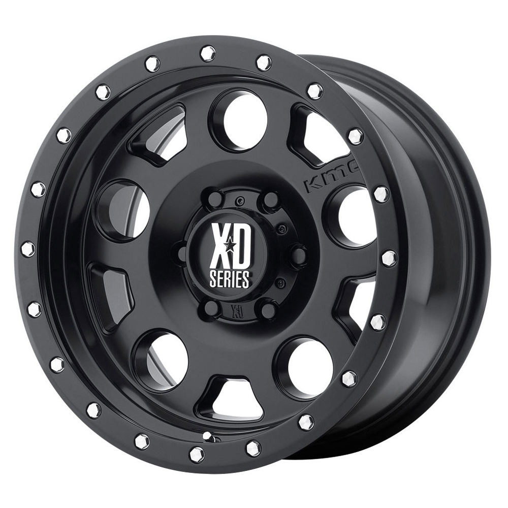 XD Series Wheels XD126 Enduro Pro - Satin Black With Reinforcing Ring Rim