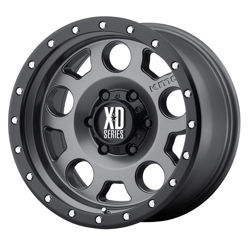 XD126 Enduro Pro - Matte Gray w/Black Reinforcing Ring