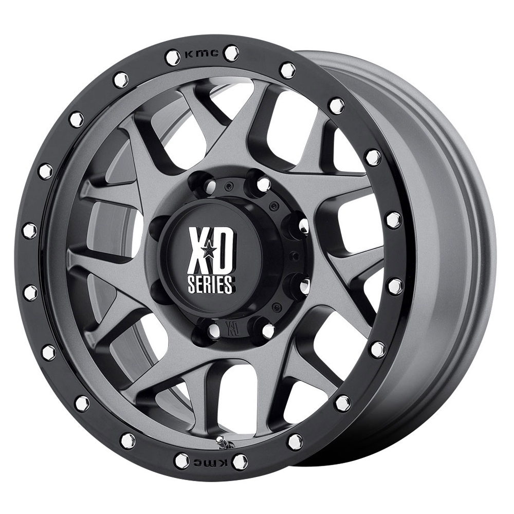 XD Series Wheels XD127 Bully - Matte Gray w/Black Reinforcing Ring Rim