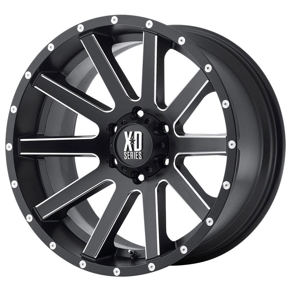 XD818 Heist - Satin Black Milled Spokes