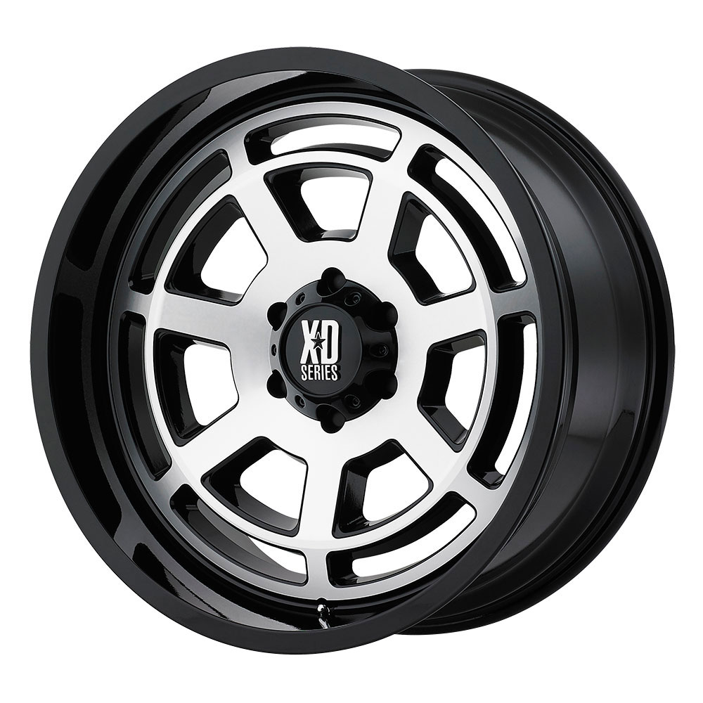 XD Series Wheels XD824 Bones - Gloss Black Machined Face Rim