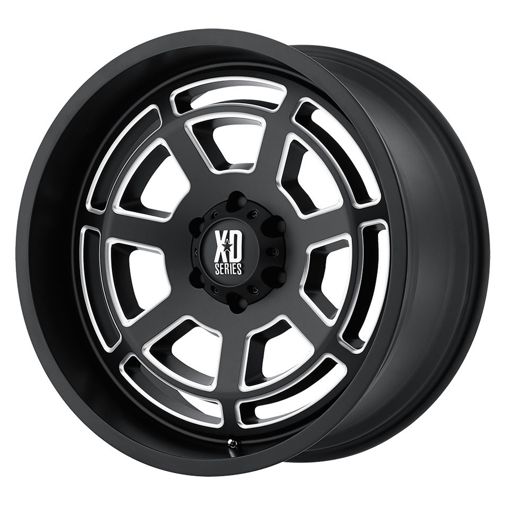 XD Series Wheels XD824 Bones - Satin Black Milled Rim