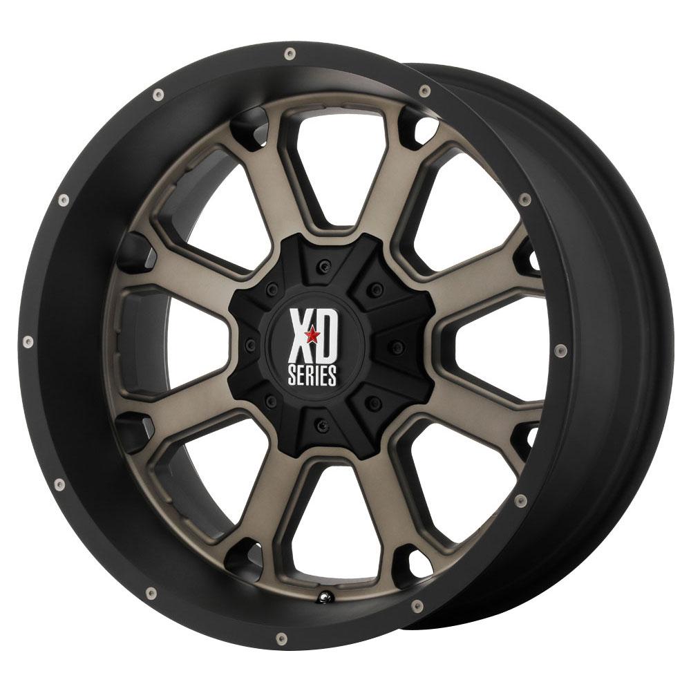 XD Series Wheels XD825 Buck 25 - Matte Black w/Dark Tint Rim