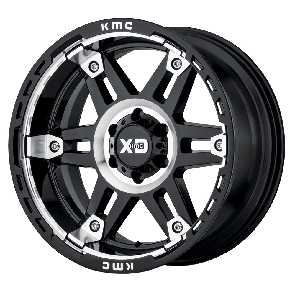 XD Series Wheels XD840 Spy II - Gloss Black Machined Rim