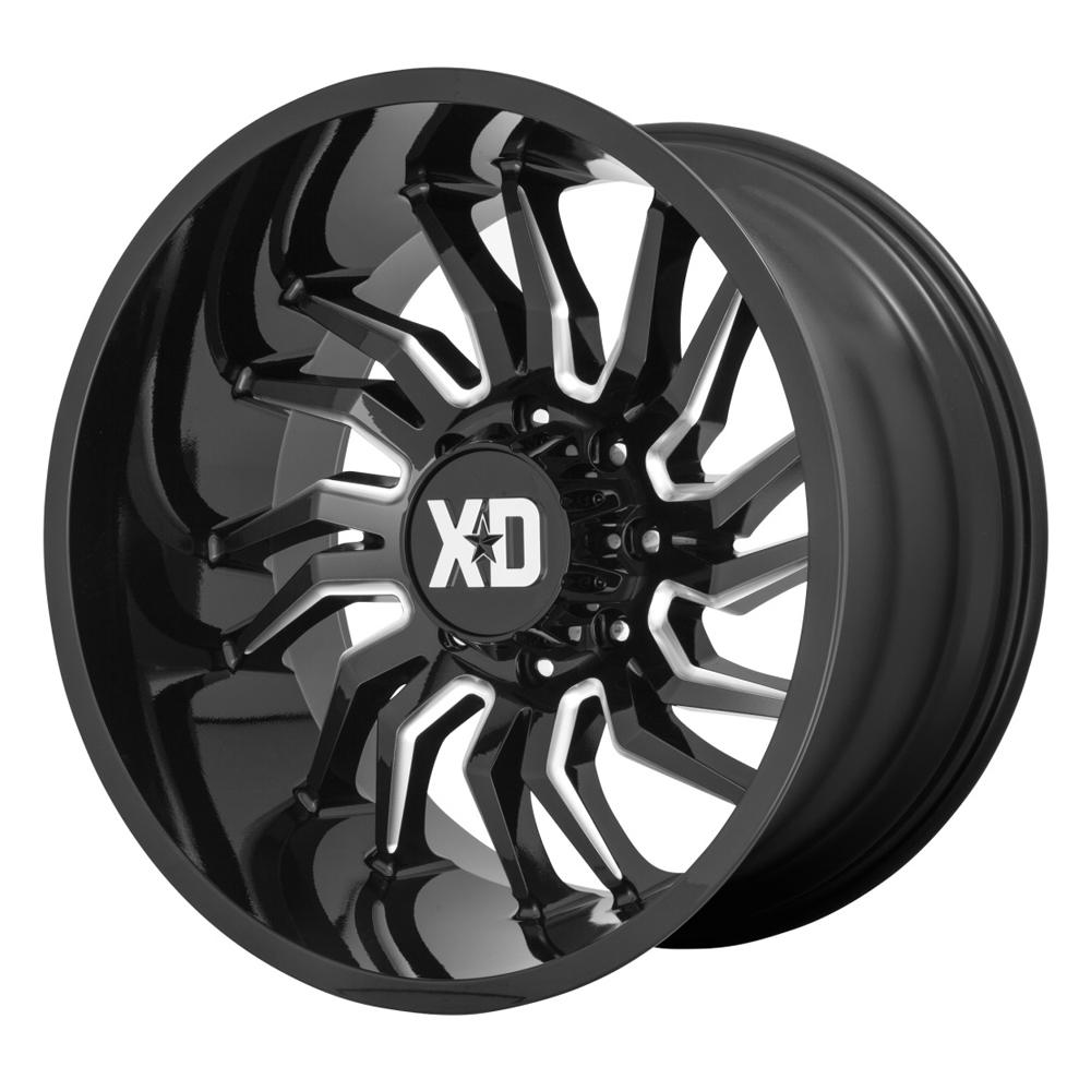 XD Series Wheels XD858 Tension - Gloss Black Milled Rim
