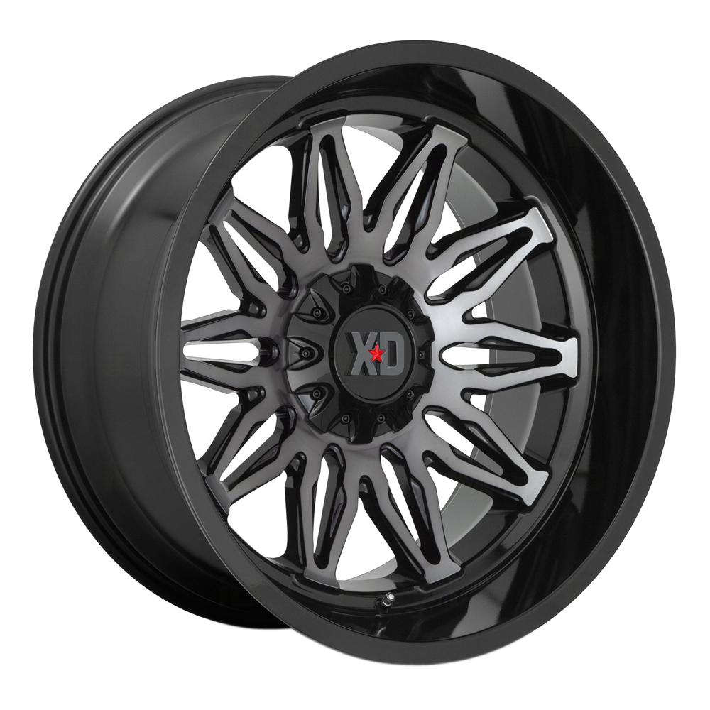 XD Series Wheels XD859 Gunner - Gloss Black Machined With Gray Tint Rim