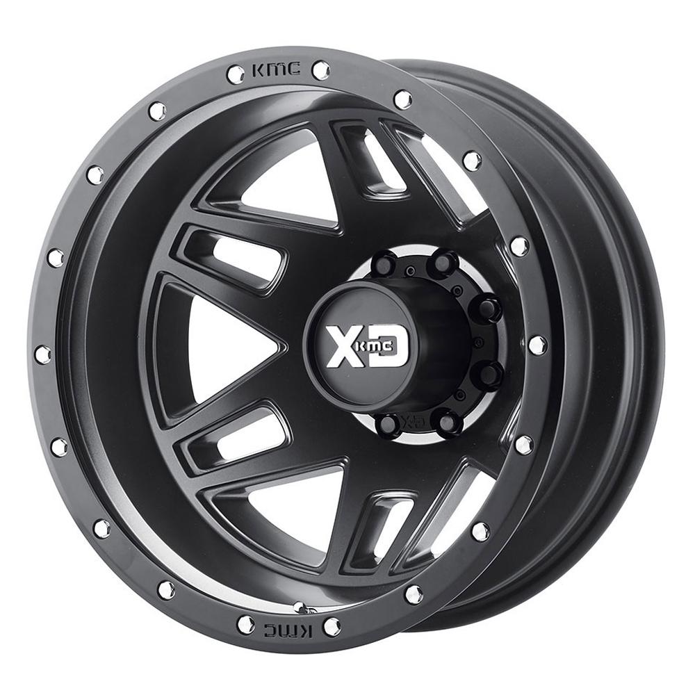 XD Series Wheels Machete Dually - Satin Black With Reinforcing Ring Rim