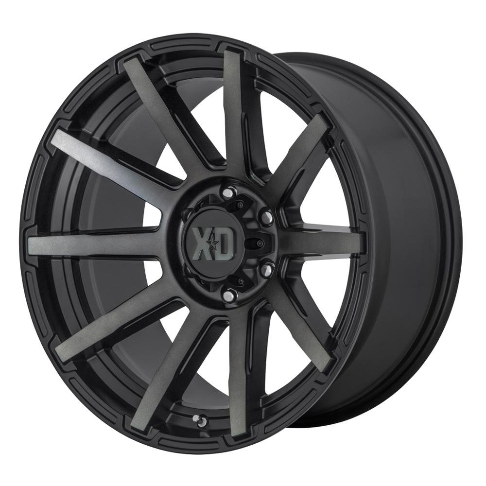 XD Series Wheels XD847 Outbreak - Satin Black / Gray Tint Rim
