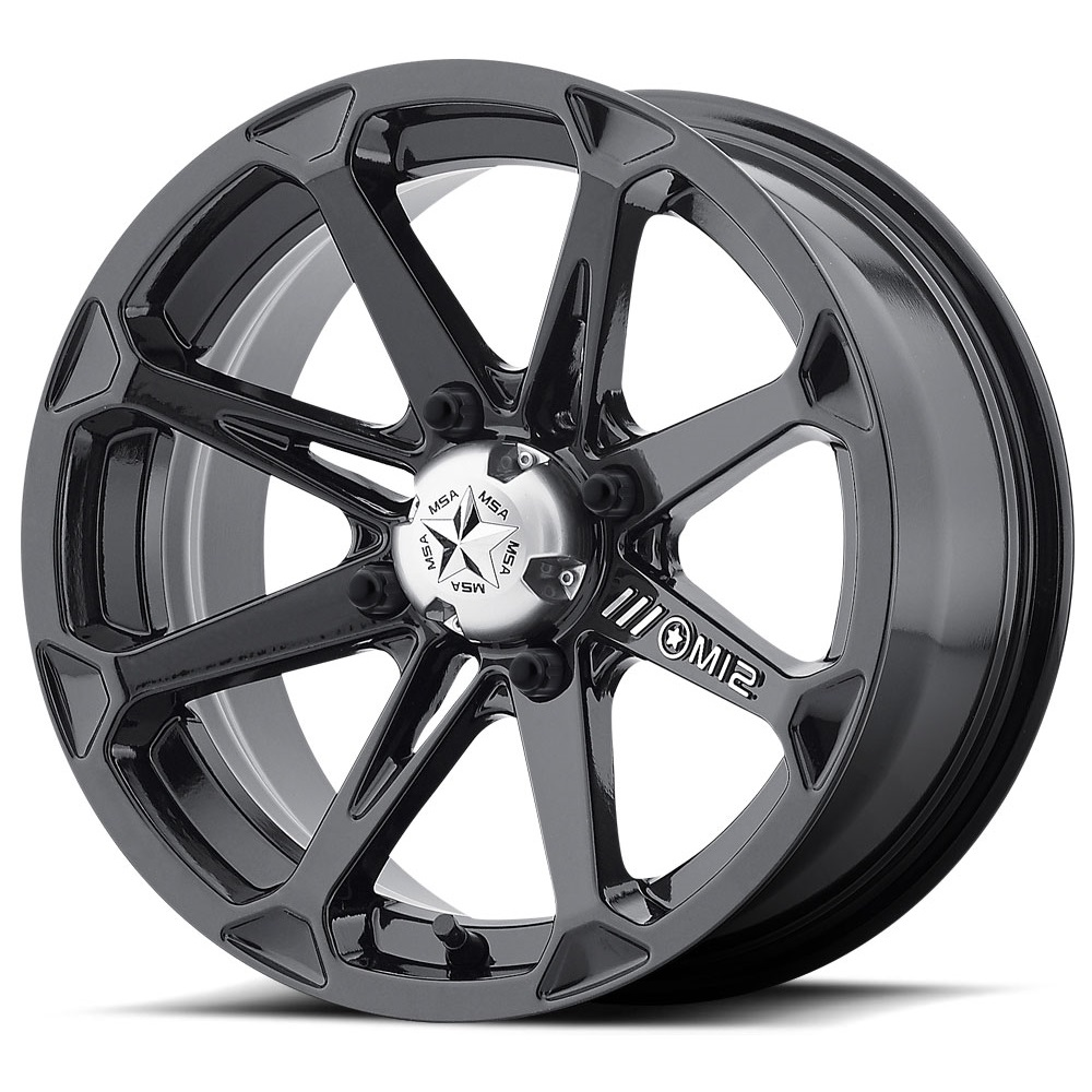 MSA Offroad Wheels M12 Diesel - Gloss Black Rim - 22x7