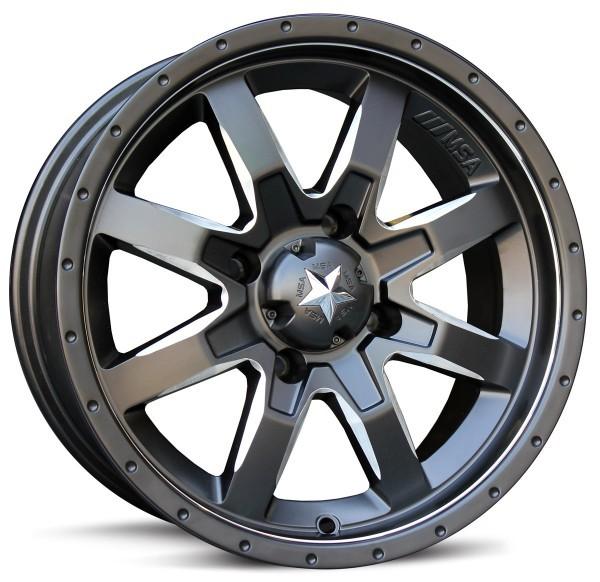 MSA Offroad Wheels M25 Rocker - Milled Satin Black Rim