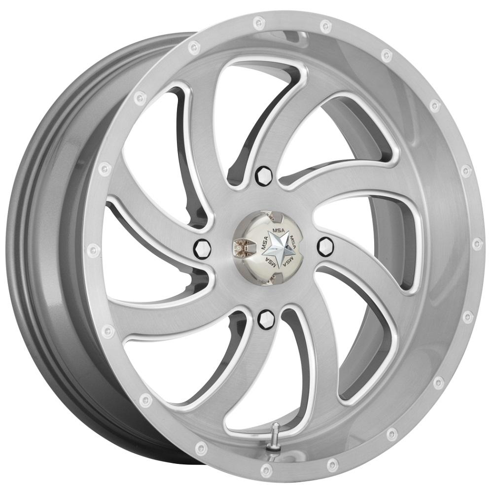 MSA Offroad Wheels M36 Switch - Brushed Titanium Rim