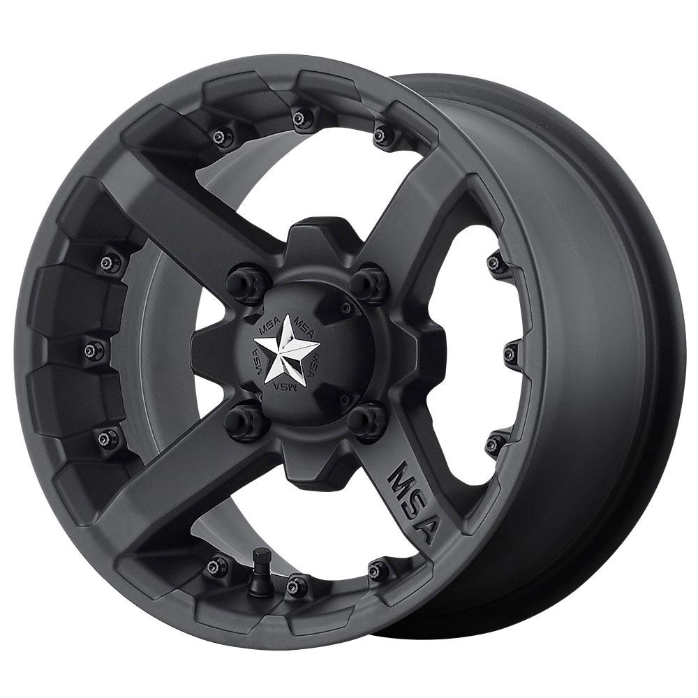MSA Offroad Wheels M23 Battle - Matte Black Rim