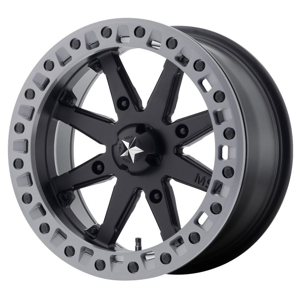 MSA Offroad Wheels M31 Lok2 - Satin Black w/Matte Gray Ring Rim