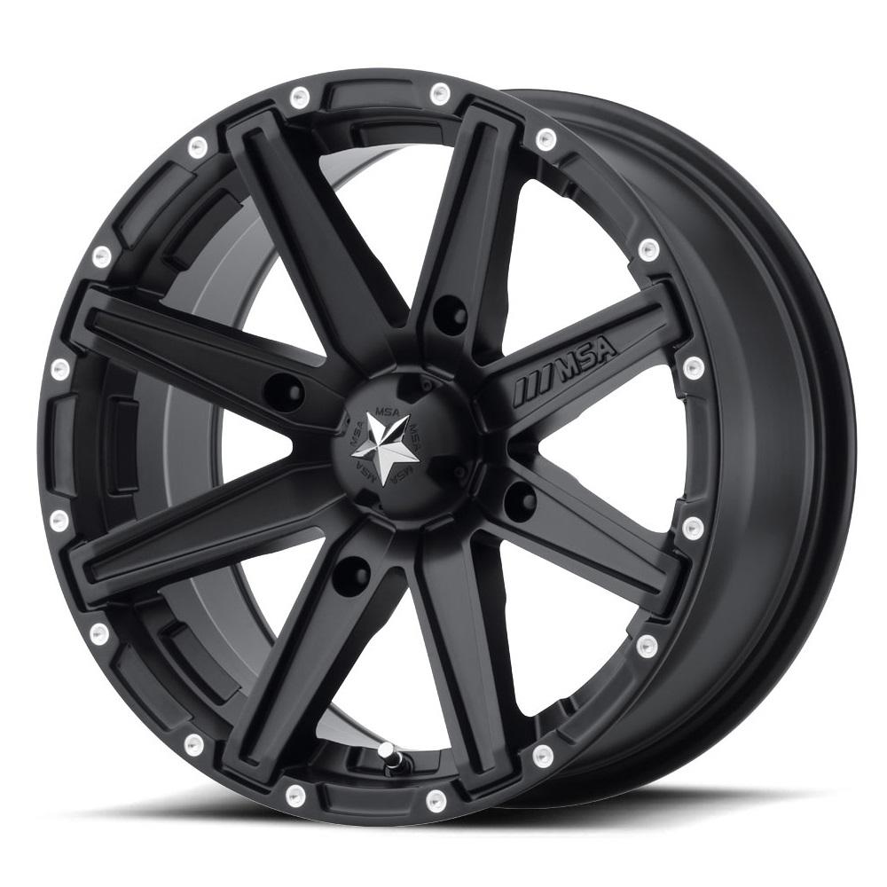 MSA Offroad Wheels M33 Clutch - Satin Black Rim