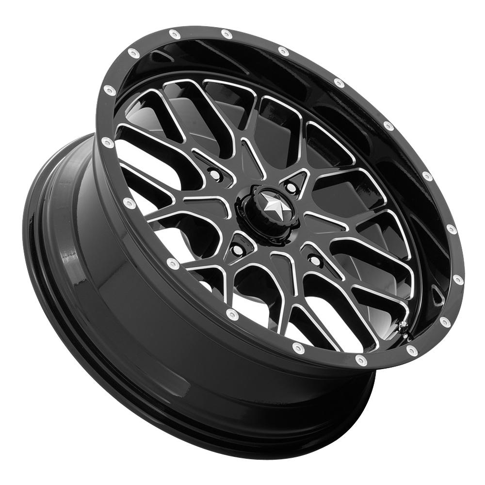 MSA Offroad Wheels M45 Portal - Gloss Black Milled Rim