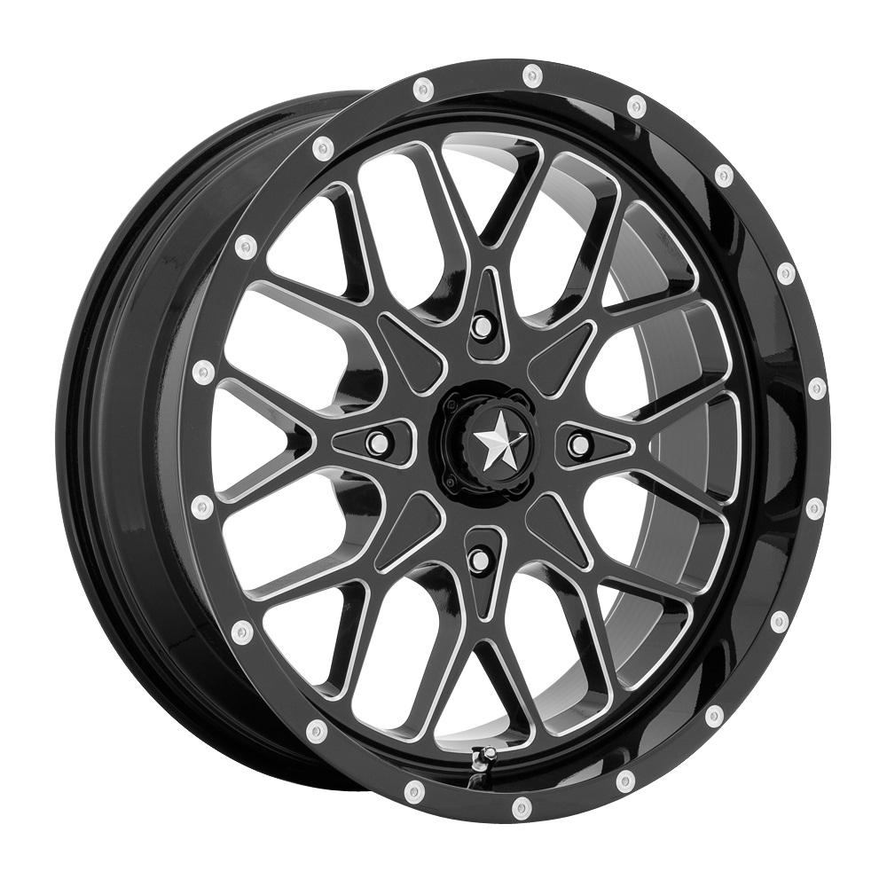 MSA Offroad Wheels MA45 - Gloss Black Milled Rim