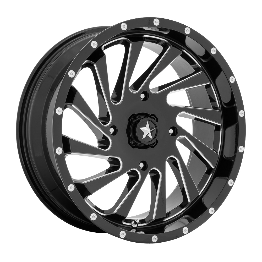 MSA Offroad Wheels MA46 - Gloss Black Milled Rim