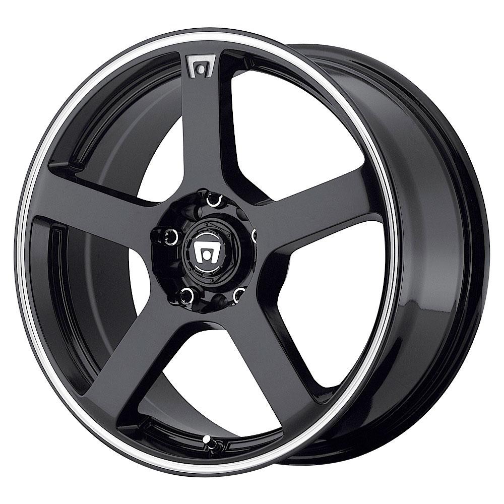 Motegi Wheels MR116 - Gloss Black w/Machined Flange Rim