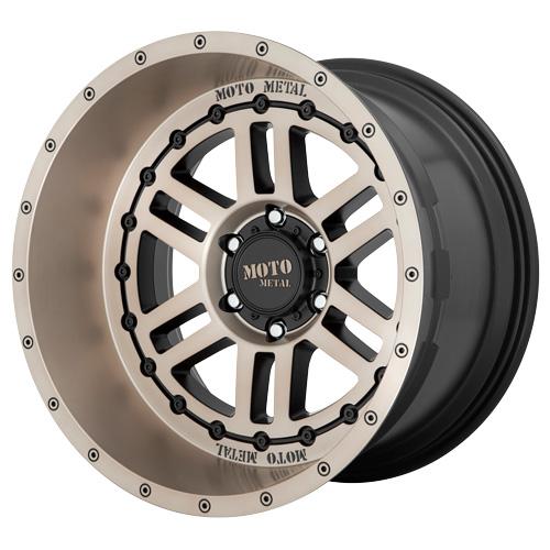 Moto Metal Wheels MO800 DEEP SIX - Satin Black Bronze Tint Rim