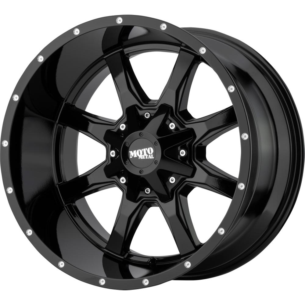 Moto Metal Wheels MO970 - Gloss Black/Milled Lip Rim