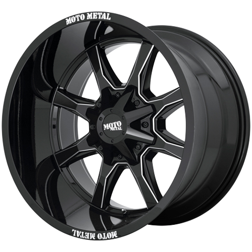 Moto Metal Wheels MO970 - Gloss Black / Milled Spoke Rim