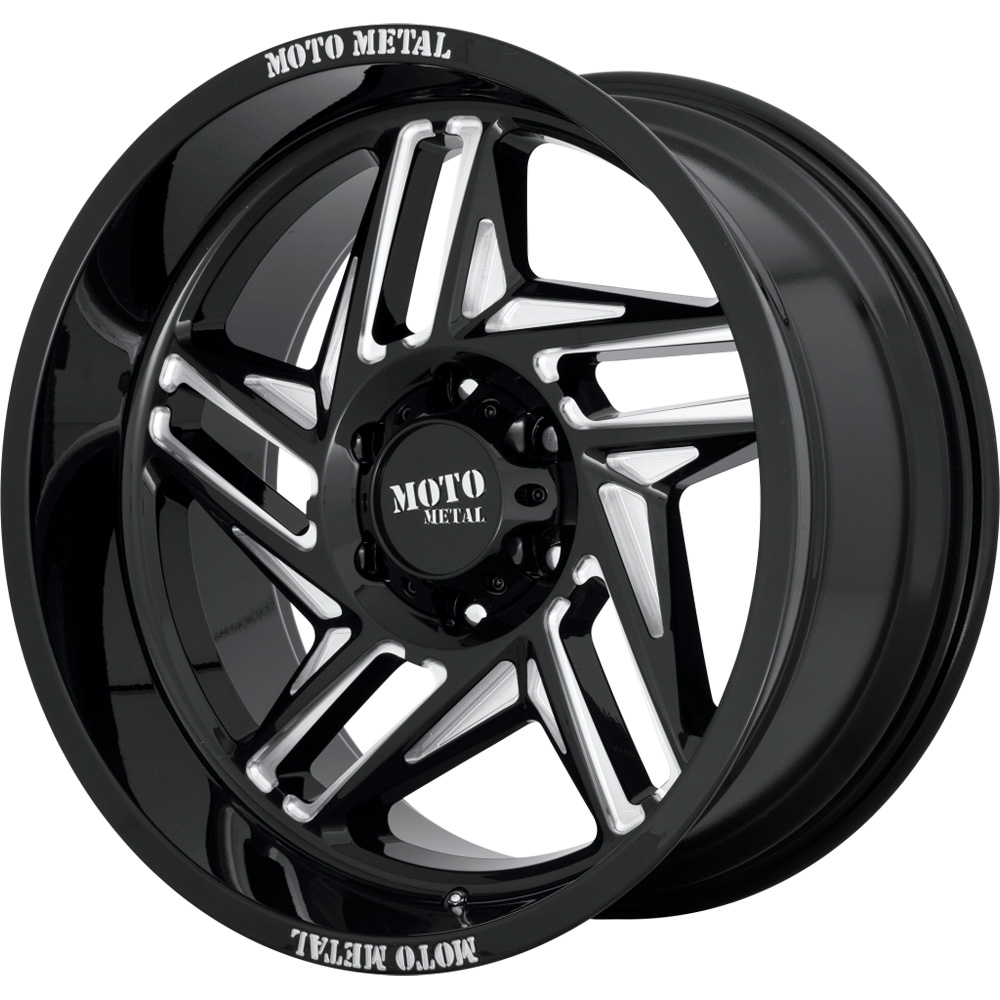 Moto Metal Wheels MO996 Ripsaw - Gloss Black/Milled Rim