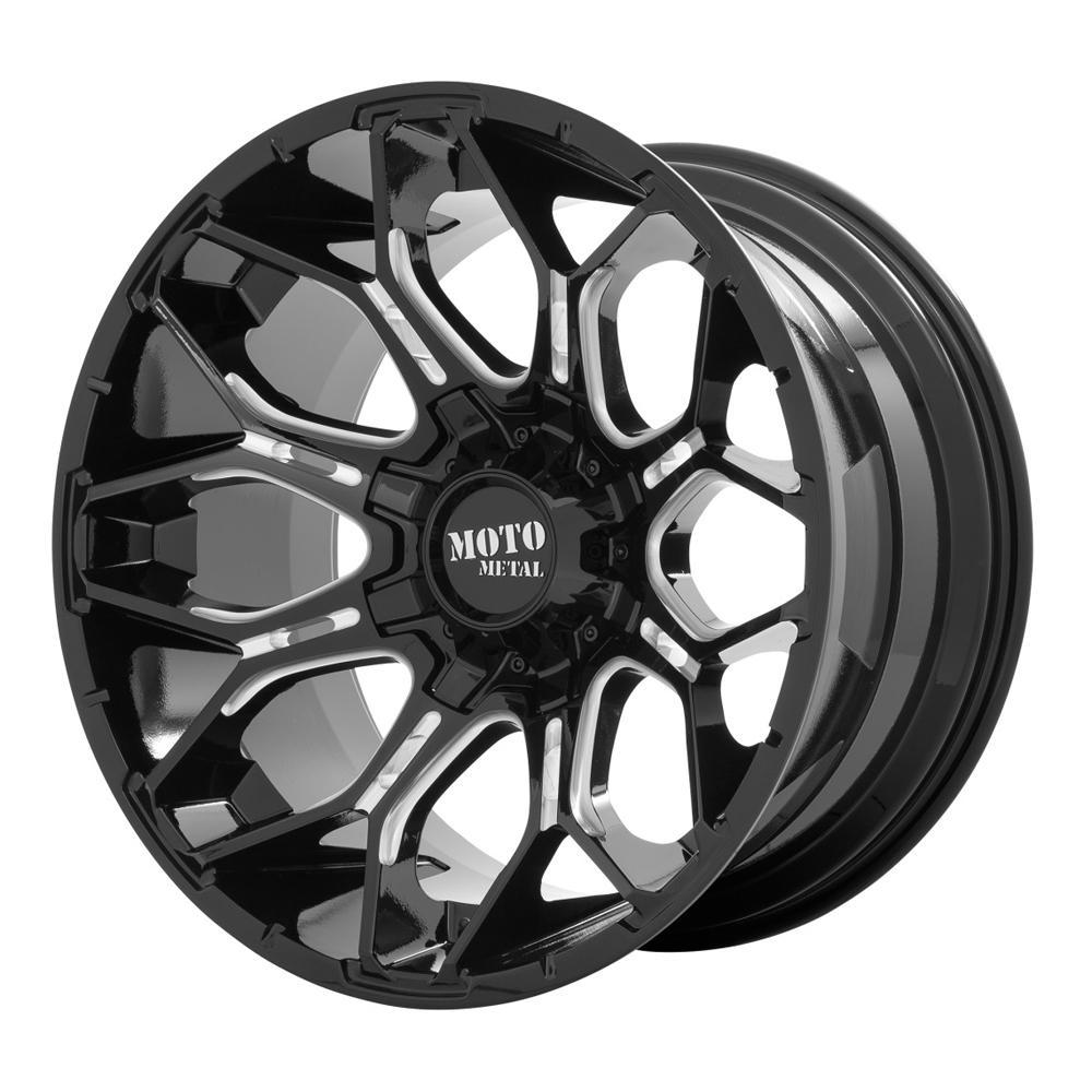 Moto Metal Wheels MO808 Sniper - Gloss Black Milled Rim