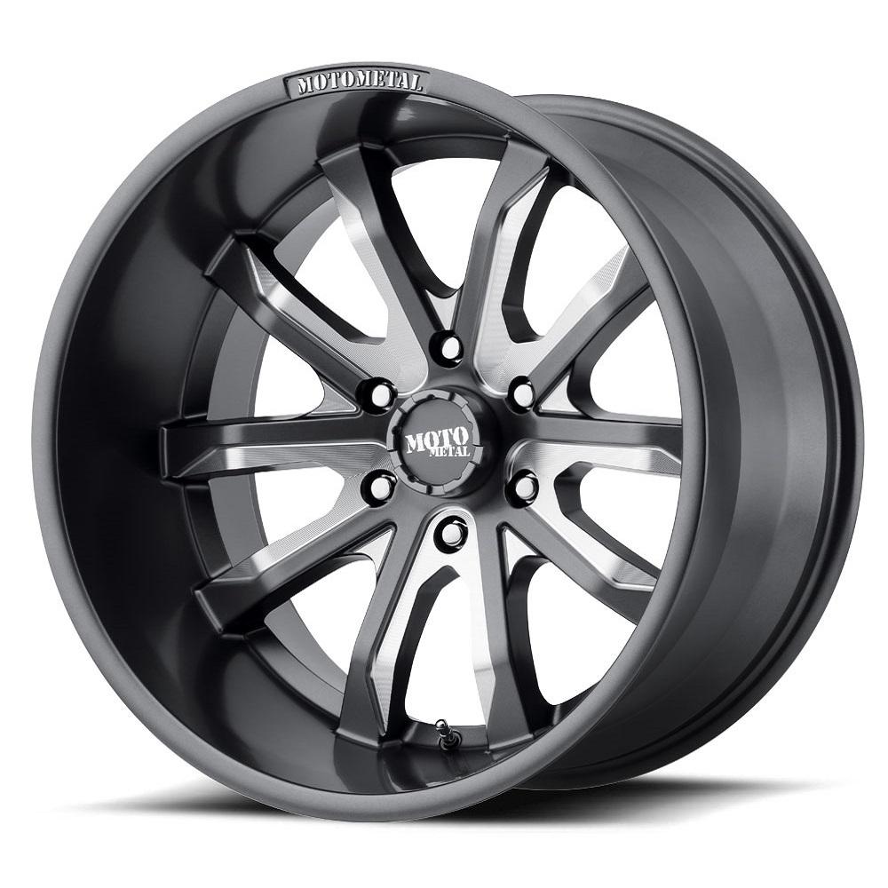 Moto Metal Wheels MO983 Dagger - Satin Gray Milled Rim