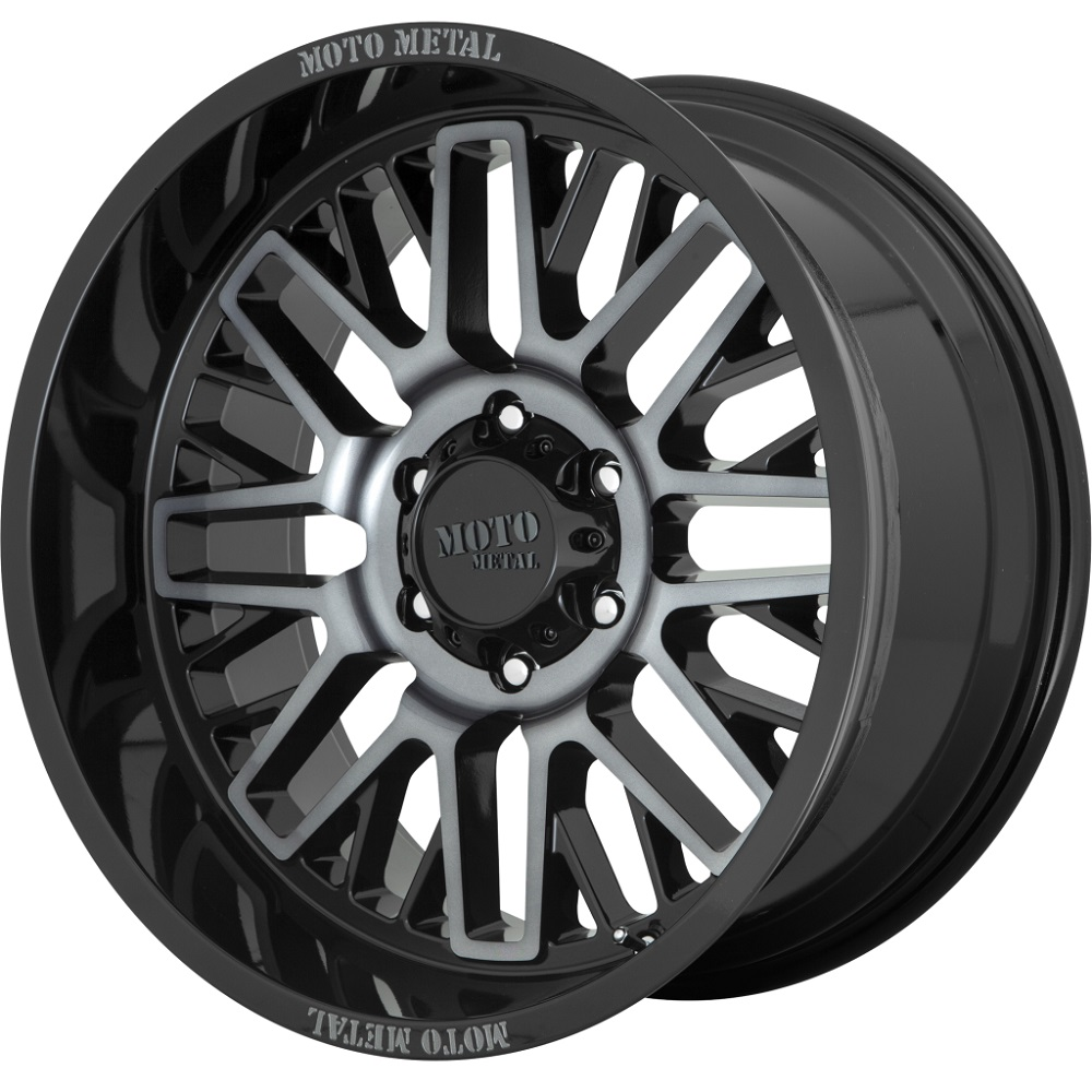 Moto Metal Wheels MO802 - Gloss Black Machined W/ Gray Tint Rim