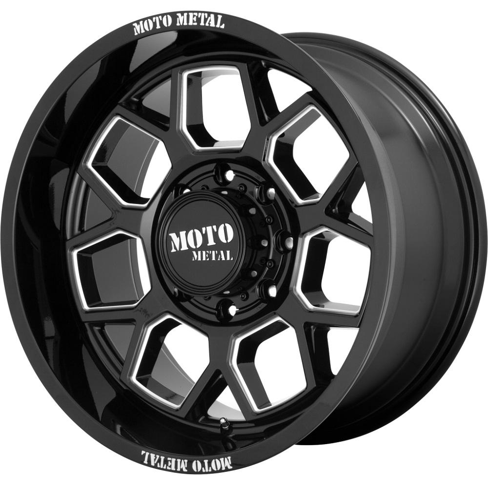 Moto Metal Wheels MO803 Banshee - Gloss Black Milled Rim