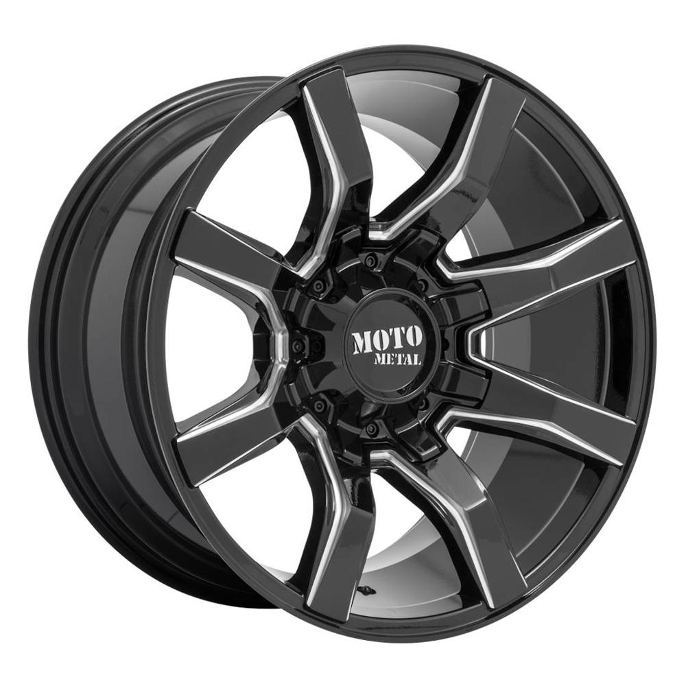 Moto Metal Wheels MO804 Spider - Gloss Black Milled Rim