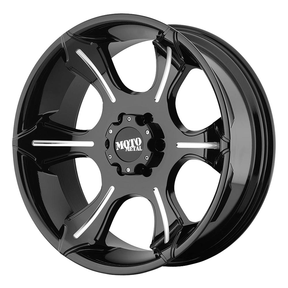 Moto Metal Wheels MO965 - Gloss Black With Milled Spokes Rim