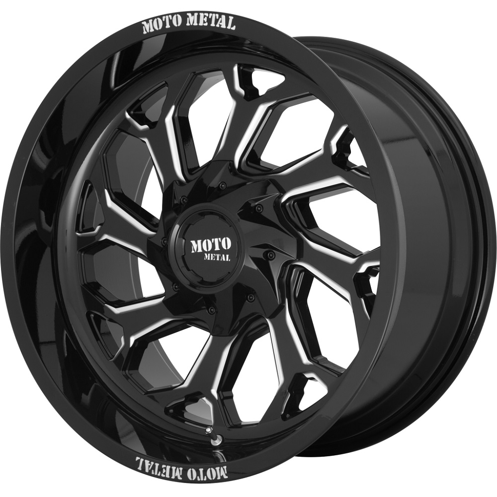 Moto Metal Wheels MO999 - Gloss Black Milled Rim