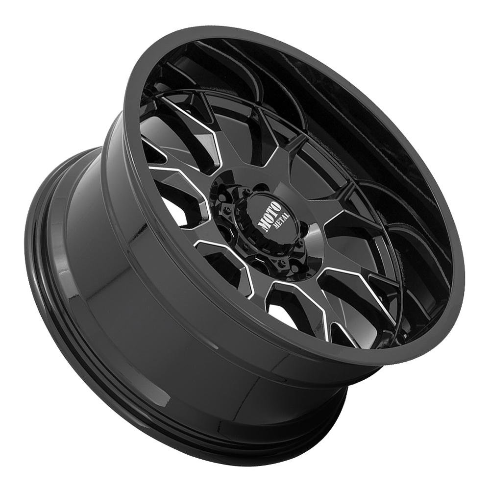 Moto Metal Wheels MO806 Talon - Gloss Black Milled Rim