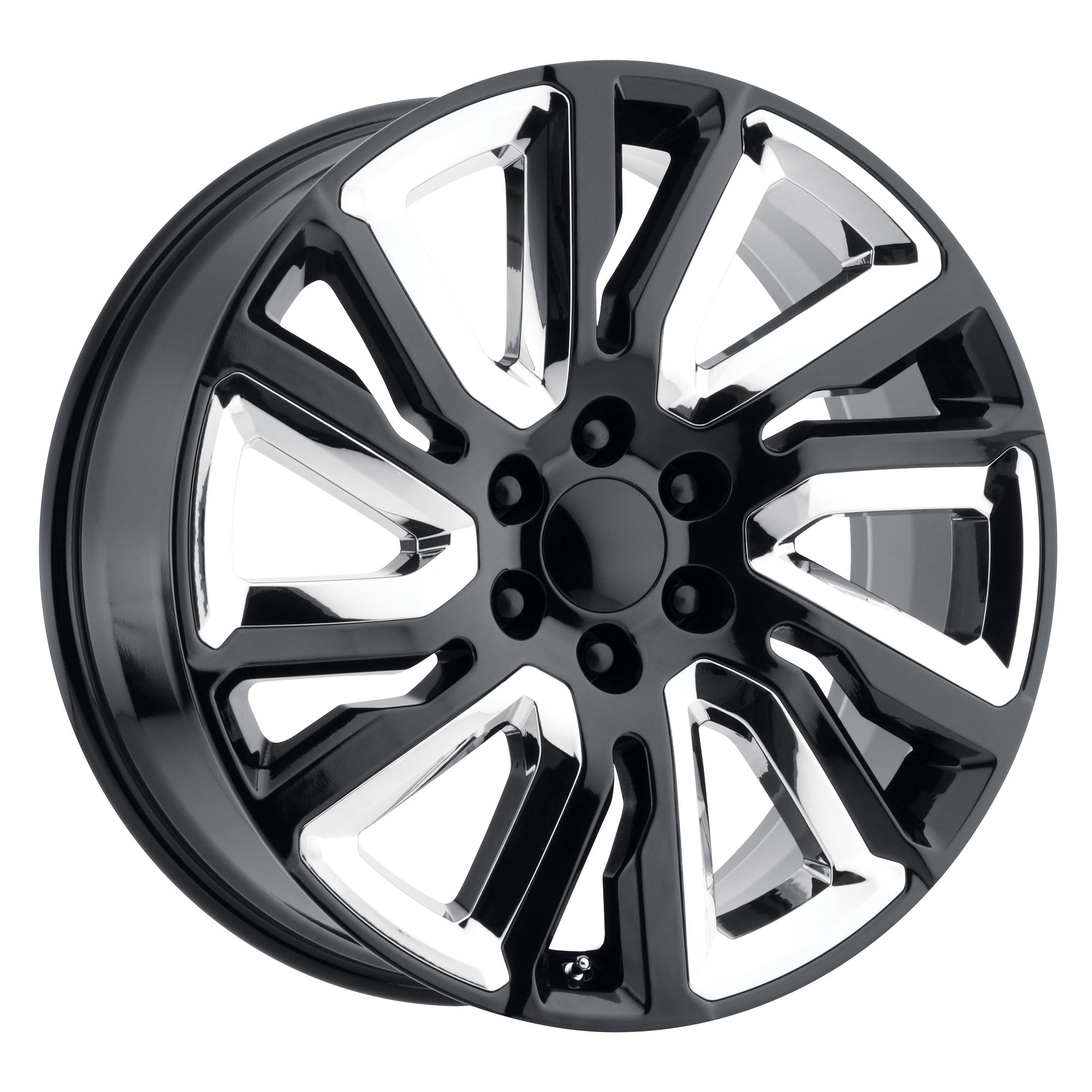 OE Creations Wheels PR202 - Gloss Black With Chrome Accents Rim
