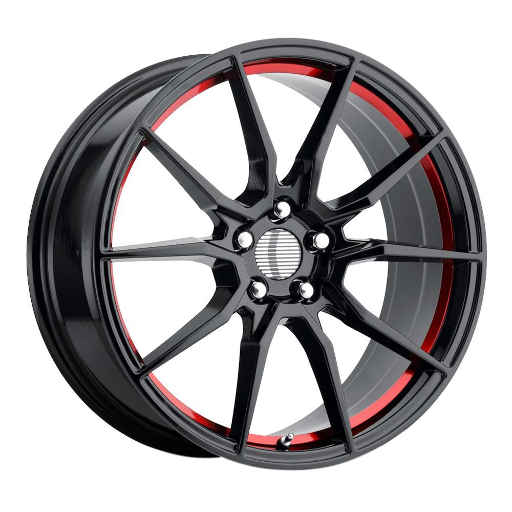 OE Creations Wheels PR193 - Gloss Black Red Machined Rim