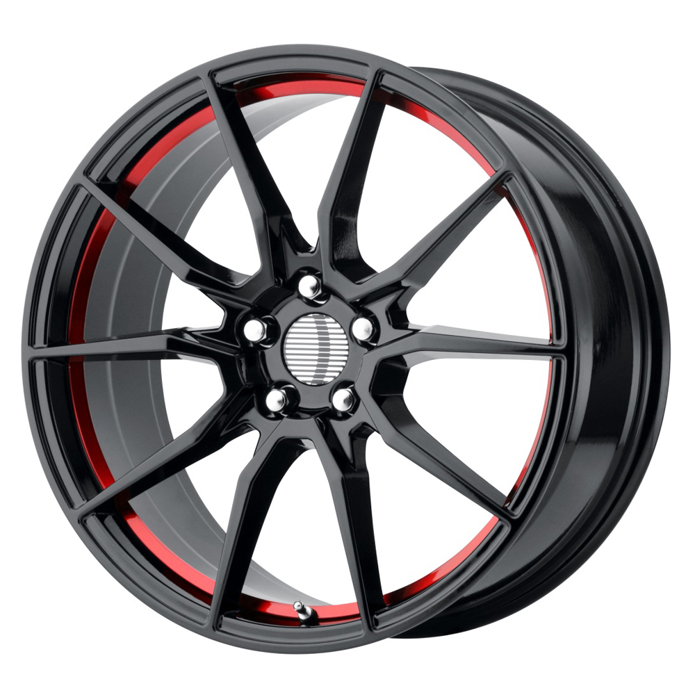 OE Creations Wheels PR193 - Gloss Black w/Red Underd Cut Rim